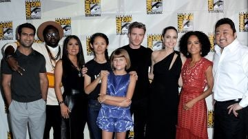 Angelina Jolie, Richar Madden, Slama Hayek y el resto del reparto de 'Los Eternos'