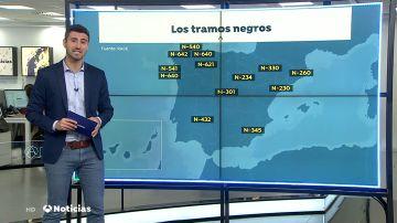 Los 15 puntos negros de las carreteras españolas