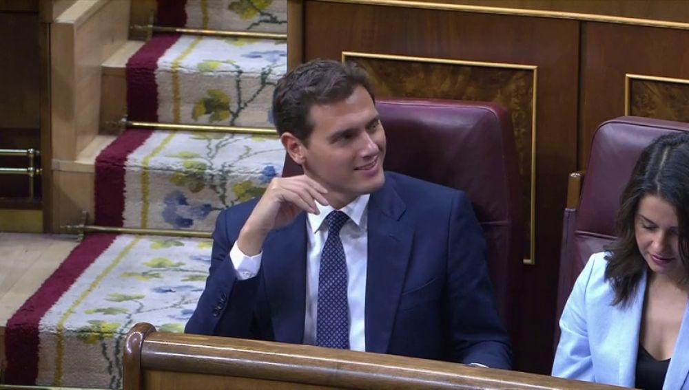 """Albert Rivera durante el debate de Sánchez: """"¡Qué morro!"""""""