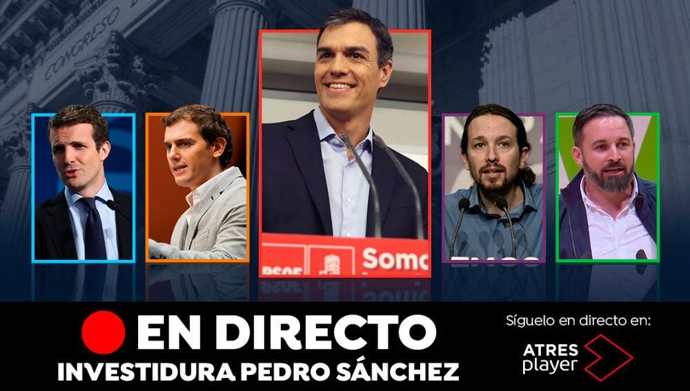 Pleno de investidura de Pedro Sánchez