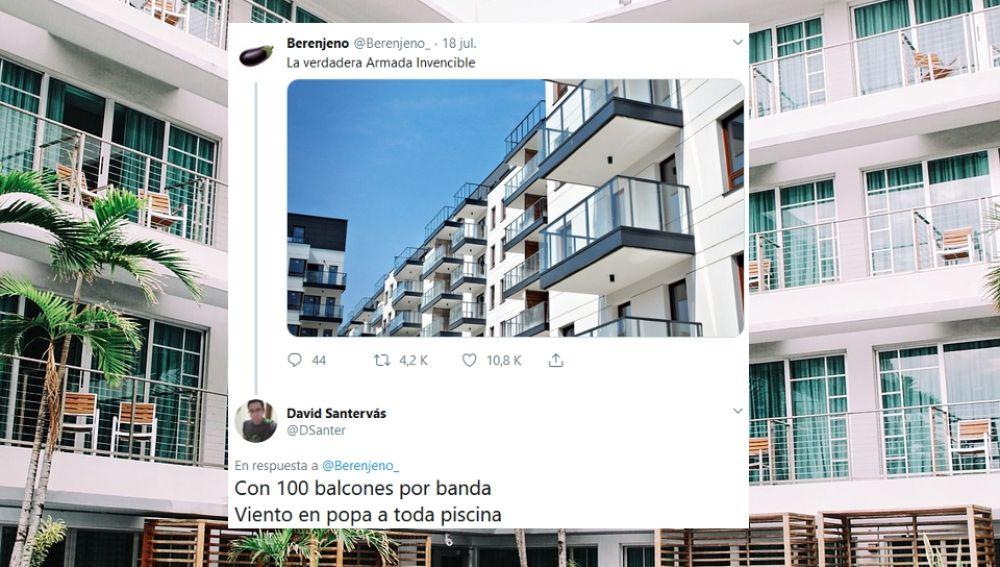 Hilo de Twitter sobre balconing