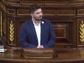 Las frases de Gabriel Rufián (ERC) en el debate de investidura