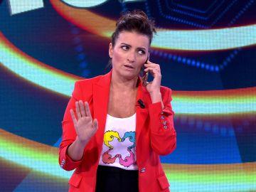 Silvia Abril recibe una misteriosa llamada personal en '¡Ahora caigo!'
