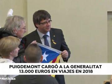 La Generalitat sufragó los viajes del expresidente Puigdemont en 2018