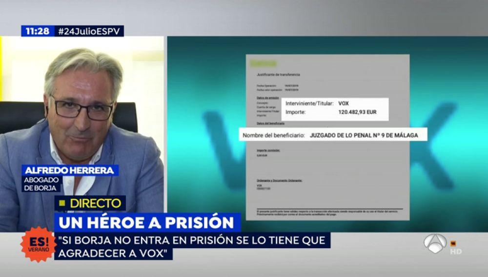 El abogado del 'caso Borja', Alfredo Herrera.