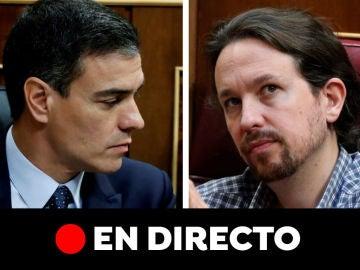 Investidura Pedro Sánchez, en directo: Última hora de Pablo Iglesias y Pedro Sánchez