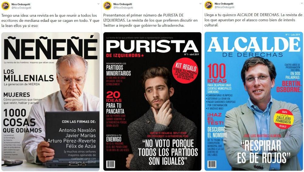 Las revistas de Nico Ordozgoiti