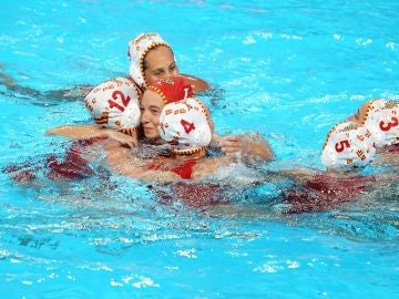 La selección femenina de waterpolo