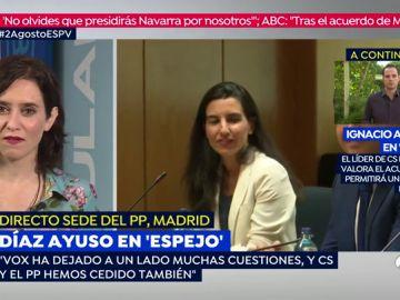 Ayuso y Aguado confirman que Ciudadanos tendrá la Vicepresidencia y cinco consejerías en la Comunidad de Madrid