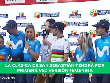 El equipo Movistar presenta a sus equipos para la Clásica de San Sebastián: hombres y mujeres tendrán los mismos premios