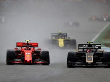 Leclerc y Magnussen en el Gran Premio de Alemania