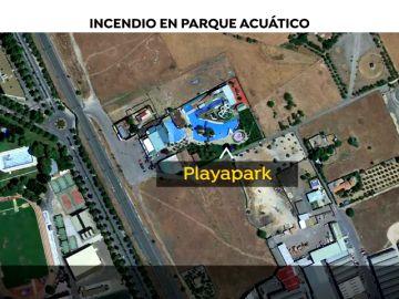 500 desalojados por un incendio en un parque acuático de Ciudad Real