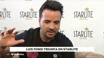"""Luis Fonsi, """"muy agradecido con su efusivo y cariñoso público"""" en el Starlite"""