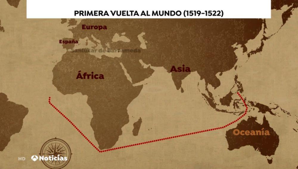 Elcano y Magallanes, la primera vuelta al mundo hace 500 años