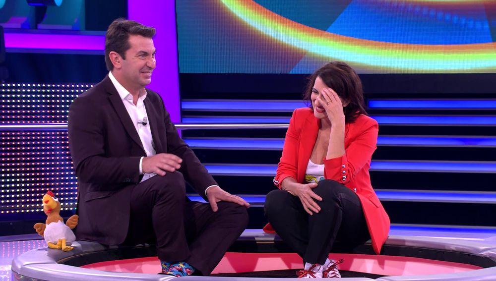 Arturo Valls y Silvia Abril en '¡Ahora caigo!'