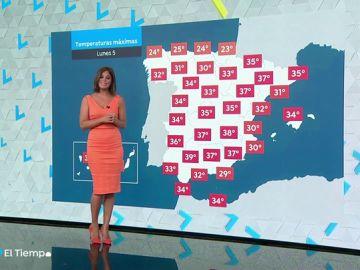 Para el lunes se esperan temperaturas muy altas en el interior oriental y en Baleares