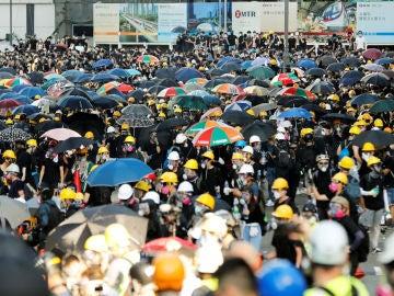 Huelga general histórica en Hong Kong