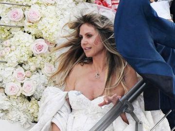 Heidi Klum durante su boda en Capri