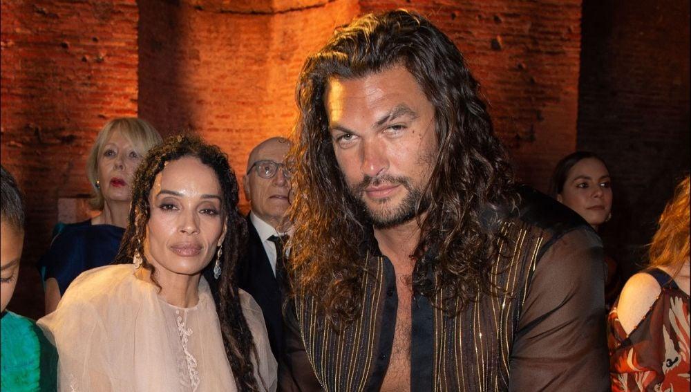 Jason Momoa y su mujer Lisa Bonet