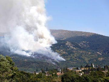 Incendio próximo al Real Sitio de San Ildefonso-La Granja