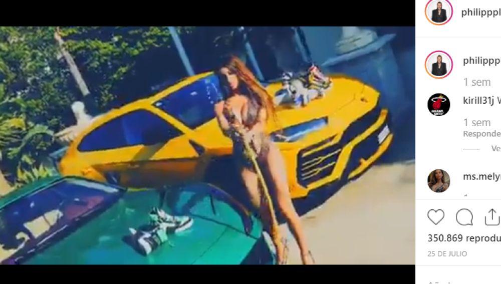Una imagen del vídeo de Philippe Plein