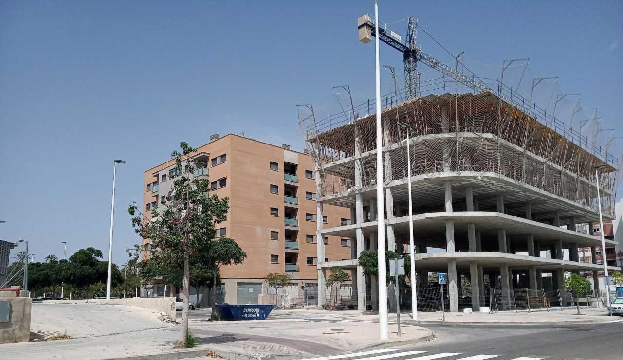 Imagen de archivo de un edificio en obras