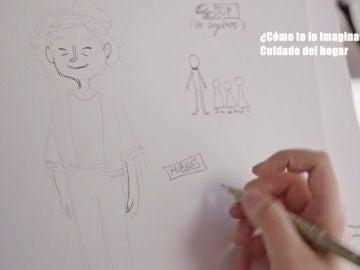 Una artista retrata las imaginaciones de varias personas en un experimento social