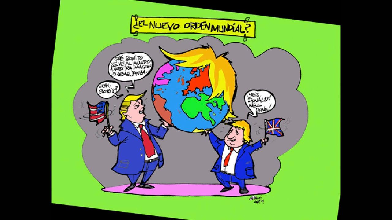 'El Nuevo Orden Mundial', En La Viñeta Gráfica Informativa