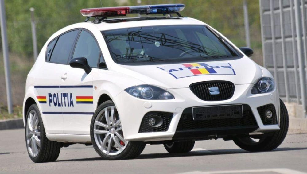 Coche de la Policía rumana