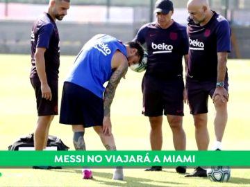 Leo Messi sufre una lesión de grado I en el sóleo y no viaja a la gira del Barça por EE.UU.