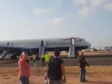 Aterrizaje de emergencia en Valencia