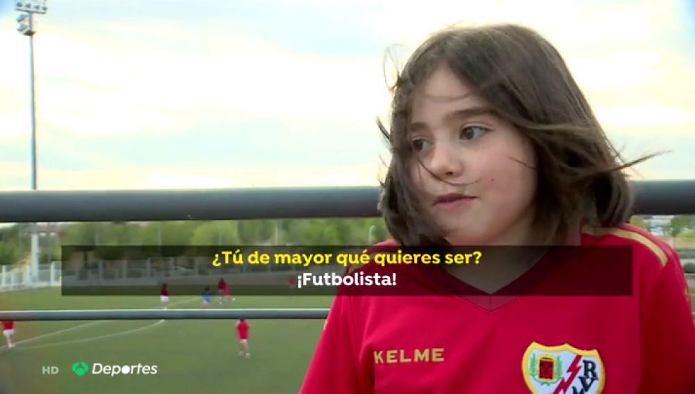 Las niñas españolas ya sueñan con ser futbolistas en vez de cantantes o actrices