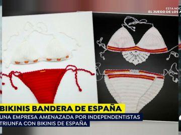 La dueña de La Flamenca de Borgoña recibe amenazas tras diseñar bikinis con la bandera de España