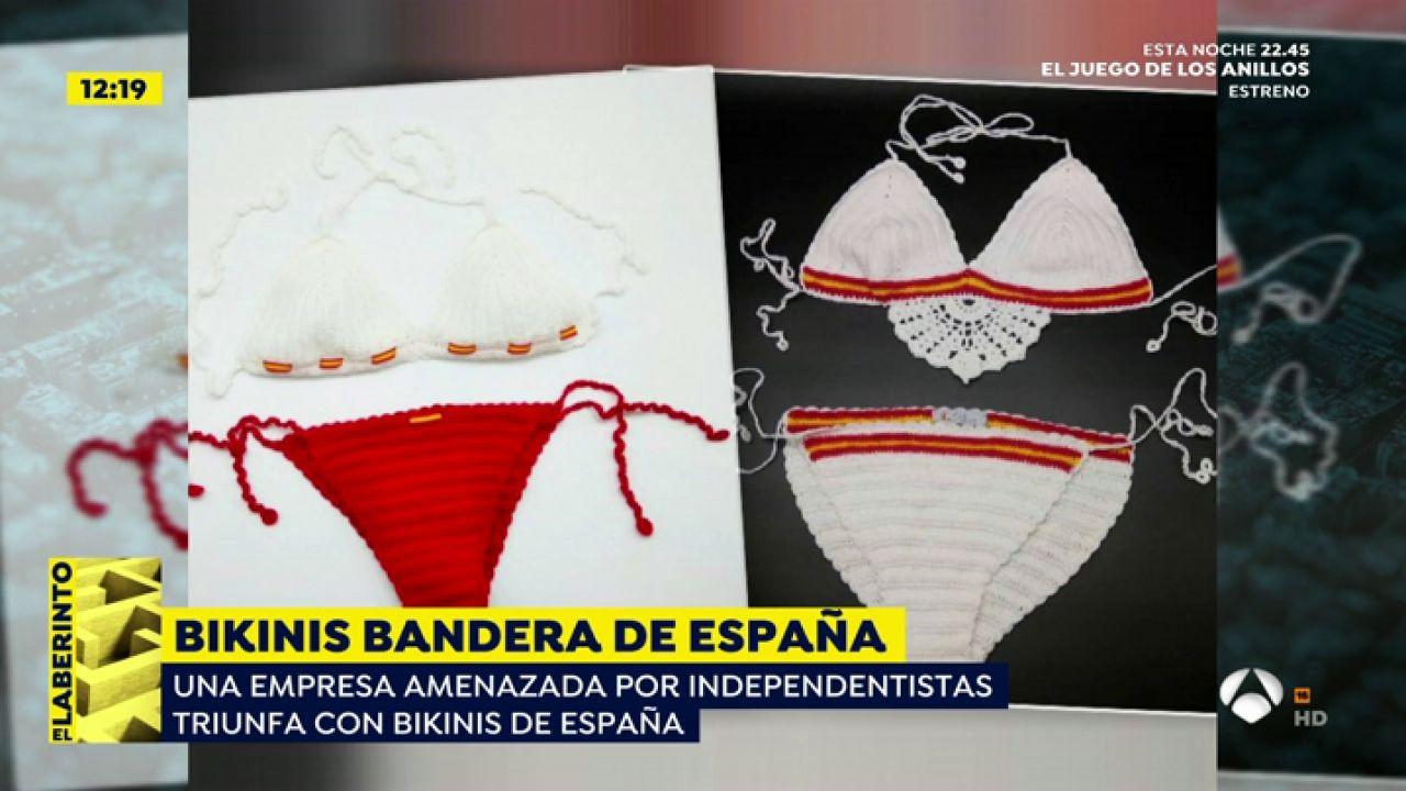 d3db52891959 Recibe amenazas por diseñar bikinis con la bandera de España