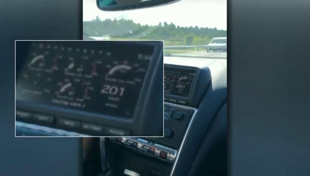 Identificado al subir un vídeo a Internet cuándo conducía a 201 kilómetros por hora