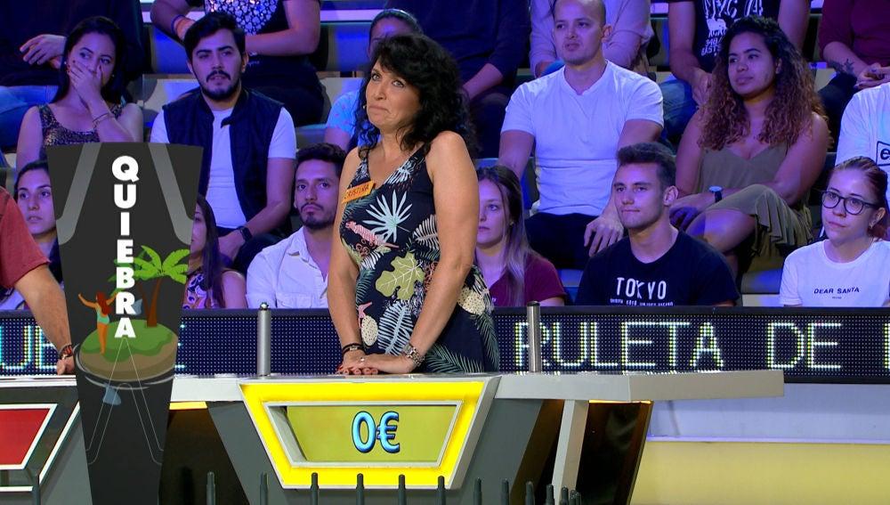 La increíble mala suerte de Cristina en 'La ruleta de la suerte'