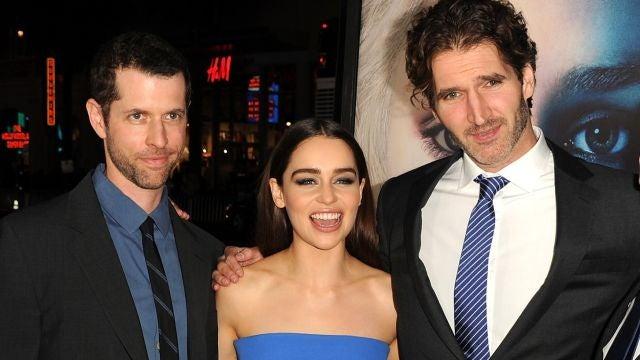 Benioff, Weiss y Emilia Clarke
