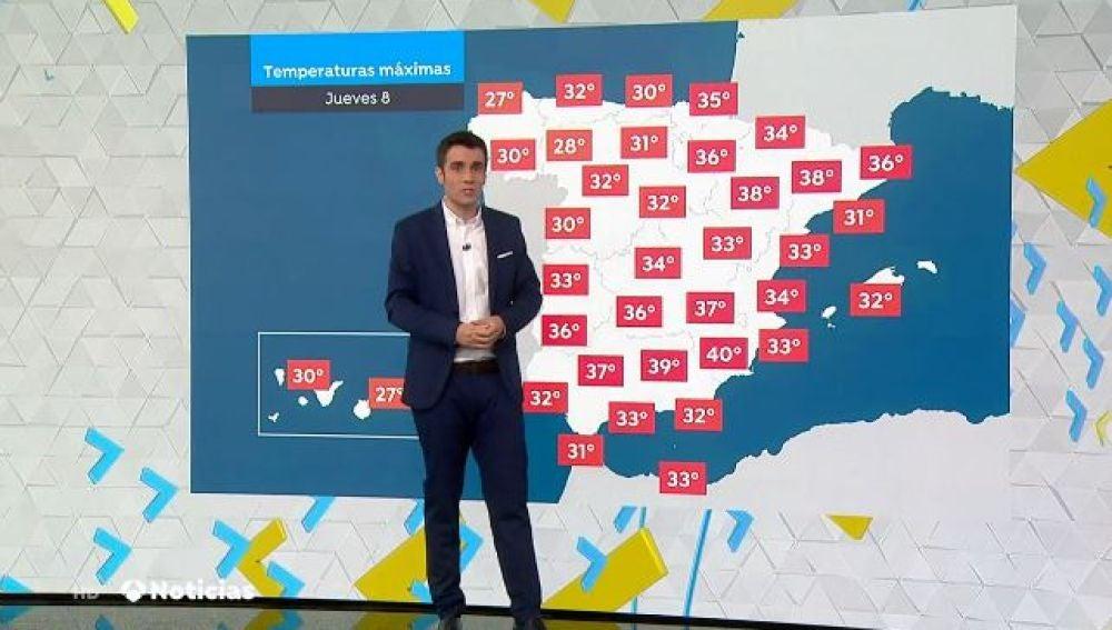 Las altas temperaturas regresan a la Península a excepción de Galicia