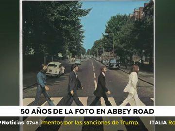 'Abbey Road' , el paso de cebra de The Beatles, sigue siendo un icono 50 años después