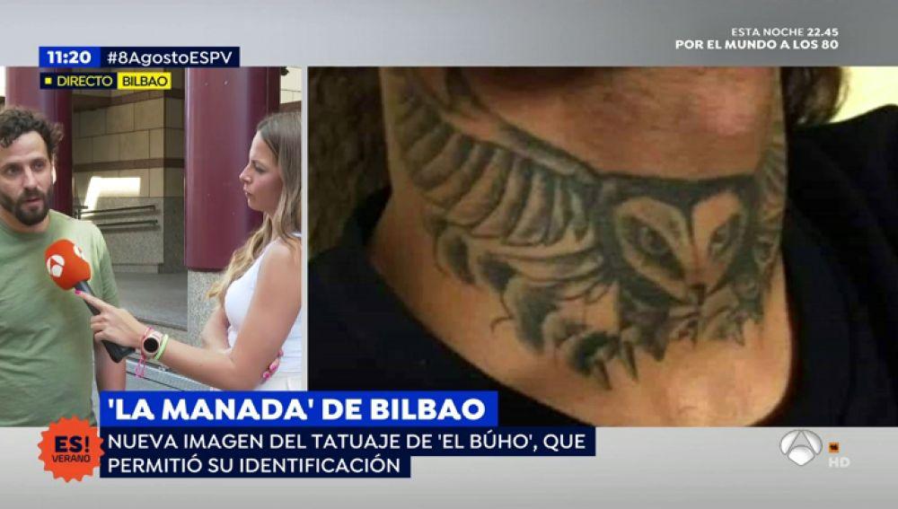 Tatuaje de 'El Búho' de la 'manada' de Bilbao