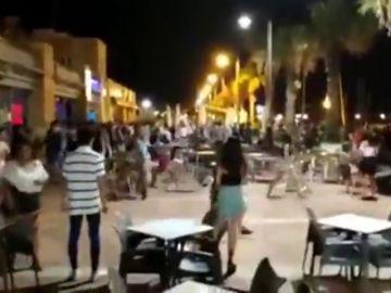 Batalla campal en el Puerto de Mazarrón: hay una persona detenida