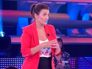 """Silvia Abril, a un concursante de '¡Ahora caigo!': """"Yo he temido por tus huevos"""","""