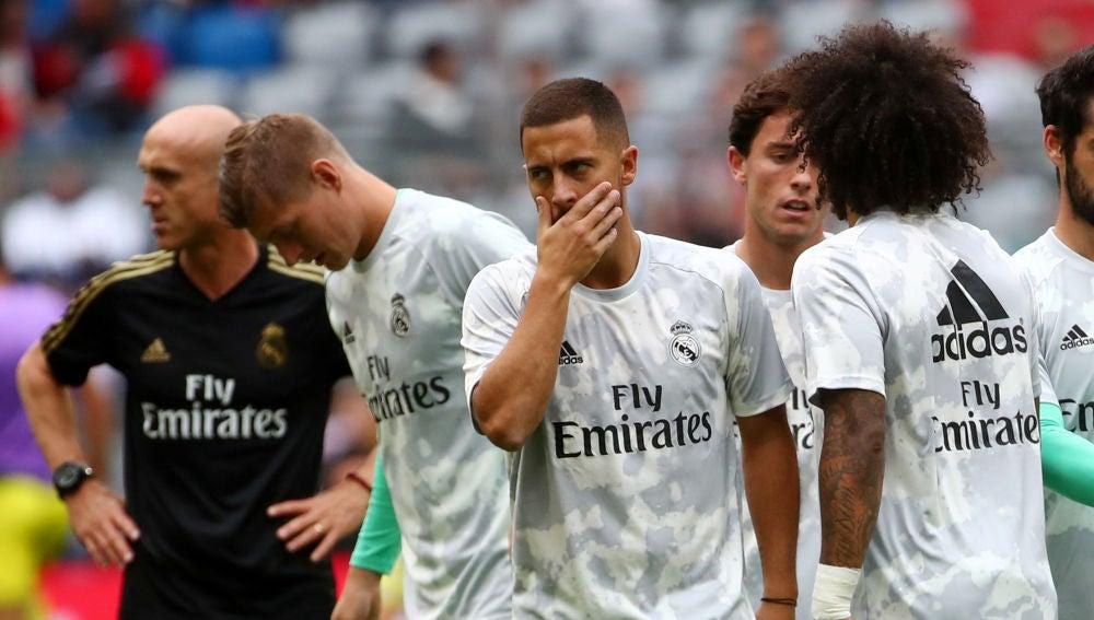 Hazard, en el entrenamiento del Real Madrid
