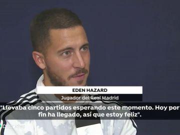 """Hazard, tras estrenarse con el Real Madrid: """"Llevaba mucho tiempo esperando este momento, estoy muy contento"""""""