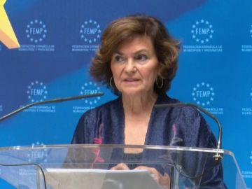 """Carmen Calvo, sobre violencia de género: """"Me inquieta que haya algún partido que no esté en el pacto"""""""