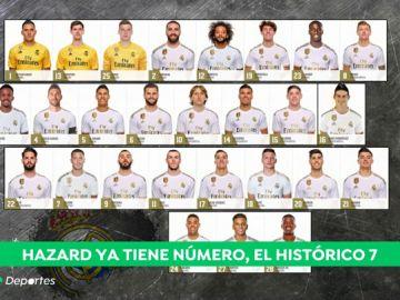 Ya conocemos los dorsales del Real Madrid para la temporada 2019-20