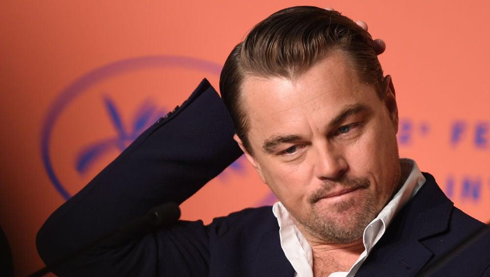 Leonardo DiCaprio en la presentación de 'Érase una vez en Hollywood'