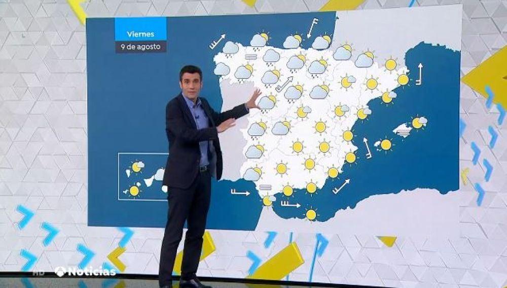 Aumento generalizado de las temperaturas sobre todo en el Mediterráneo