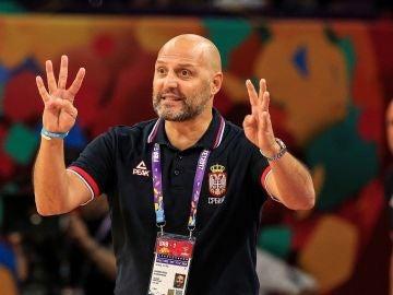 Aleksandar Djordjevic, entrenador de Serbia