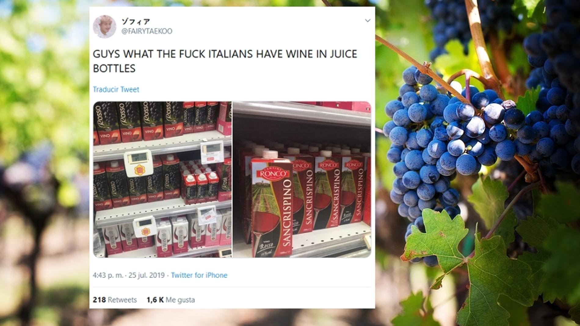 Cartones de vino